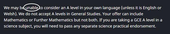 哪些大学接受A-level中文成绩?